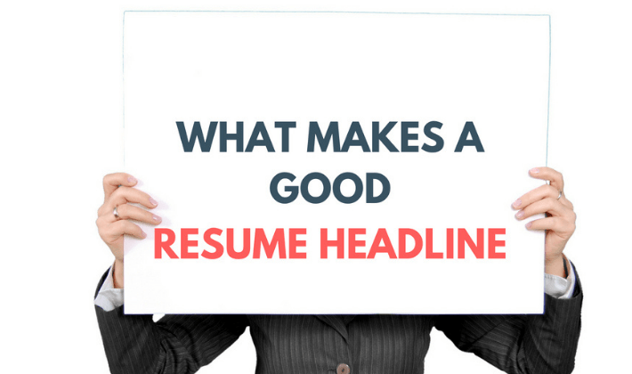 resume headline