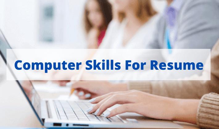 computer skills for resume