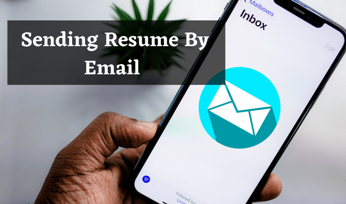 what to write in an email when sending resume